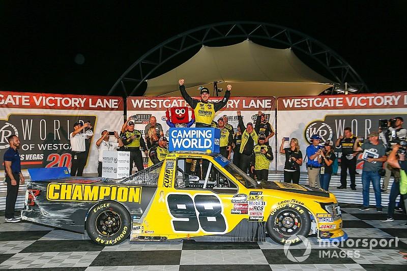 Grant Enfinger wins chaotic NASCAR Truck race at Las Vegas
