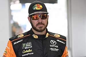 Truex snatches Stage 2 win at Las Vegas from Logano
