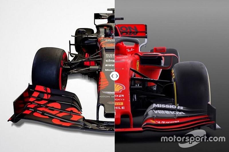 Vergleich Formel-1-Autos 2019: Red Bull RB15 vs. Ferrari SF90