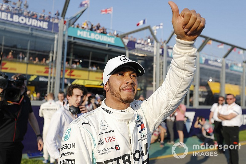Australian GP: Hamilton leads Mercedes front row lock-out