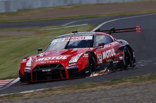 NISMO Nissan escapes serious damage in Suzuka crash