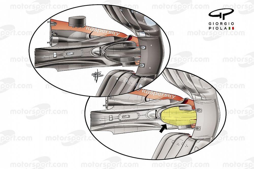 Cómo mejora la aerodinámica de Ferrari su nueva carcasa de la caja de cambios