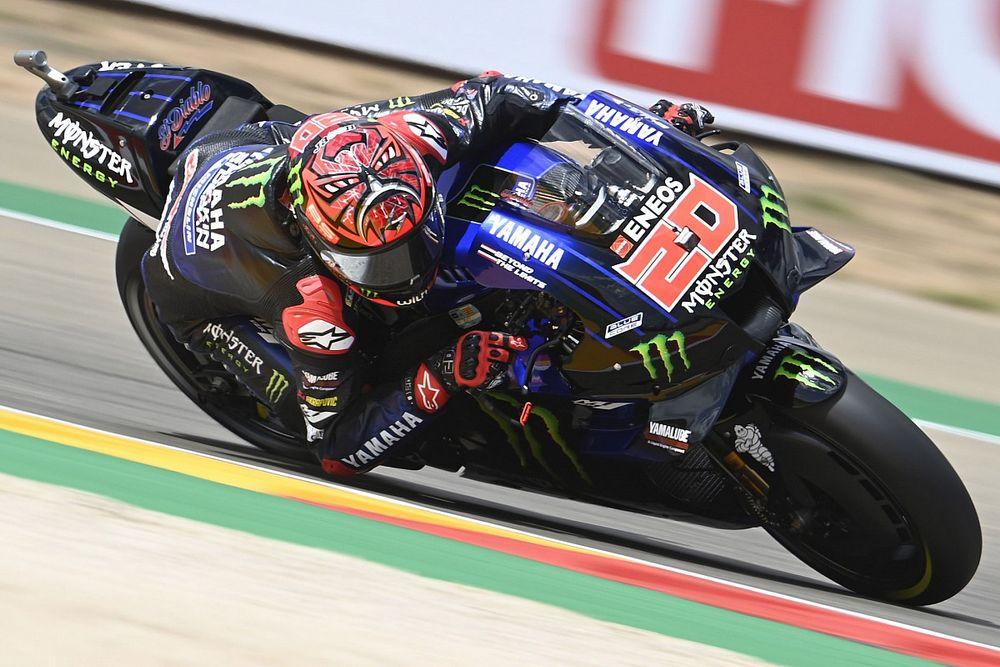 MotoGPアラゴンFP3:王座へ邁進、クアルタラロ最速タイム。中上貴晶は9番手で予選Q2へ