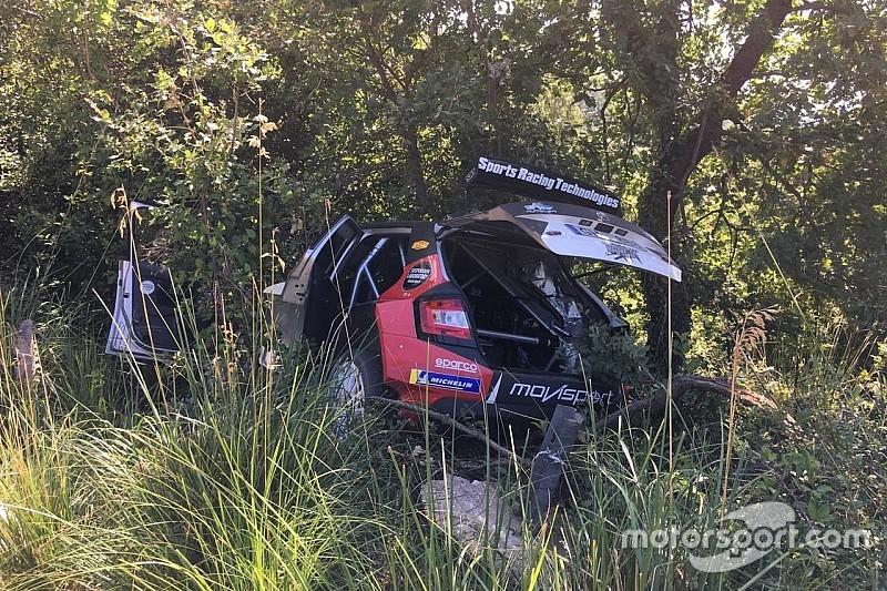 Грязин разбил машину и выбыл с этапа ERC в Риме
