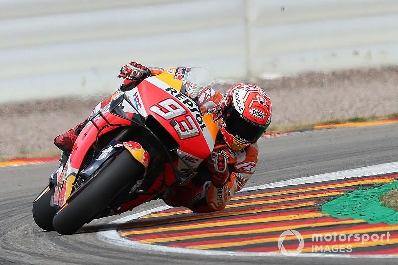 MotoGP, Sachsenring, Libere 3: Marquez si conferma al top. Rossi e Dovi in Q1!