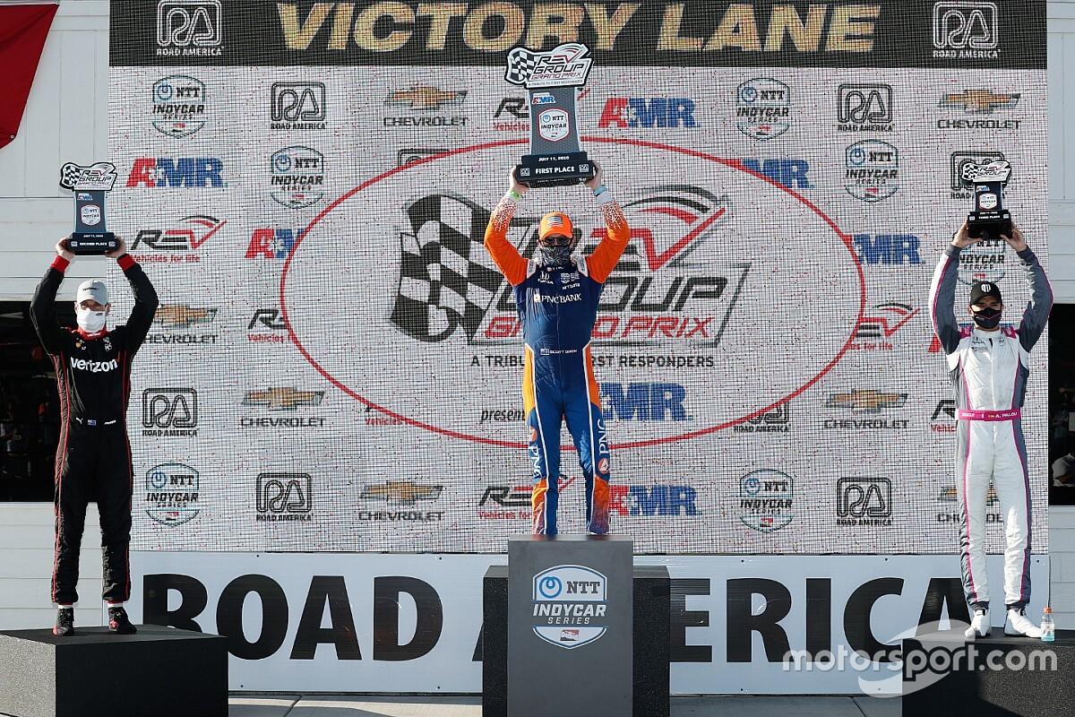 Palou logró su primer podio en IndyCar