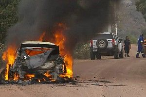 WRCメキシコ:オジェ首位で後半戦に。ヌービルはストップ、ラッピ車は炎上