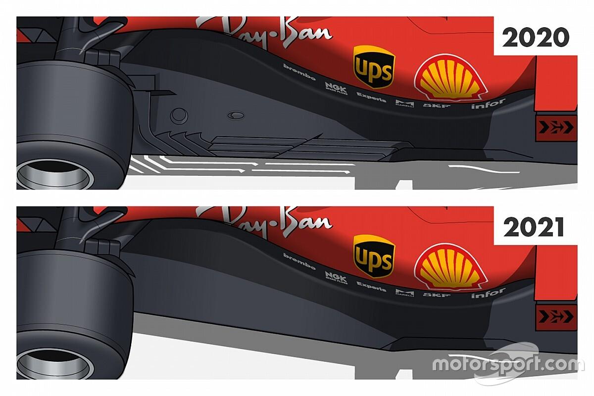 Tech: De aanpassingen aan de vloer die F1 in 2021 langzamer maken