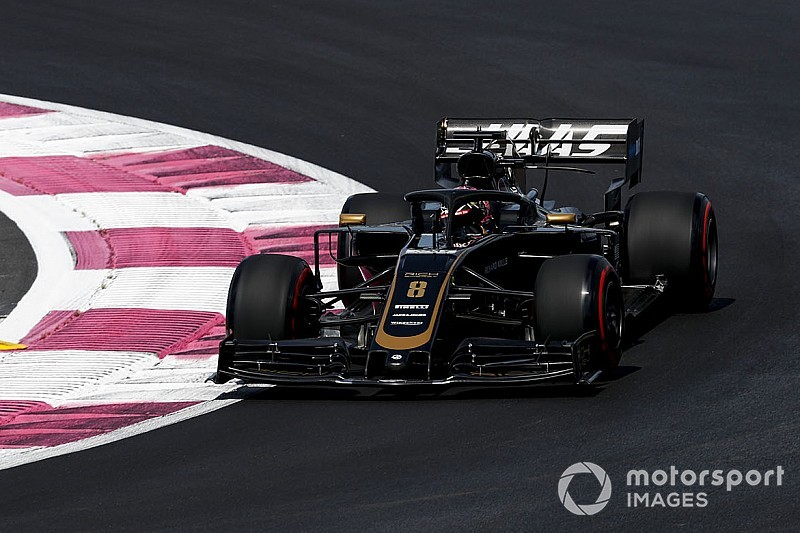 Diaporama : le suisse Romain Grosjean au Grand Prix de France