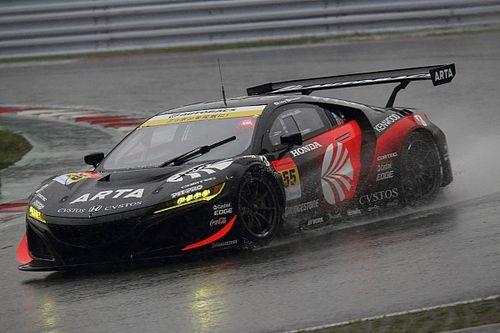 わずか0.239秒差……最高速不足に苦しんだ55号車NSX、タイヤ無交換作戦成功で2位