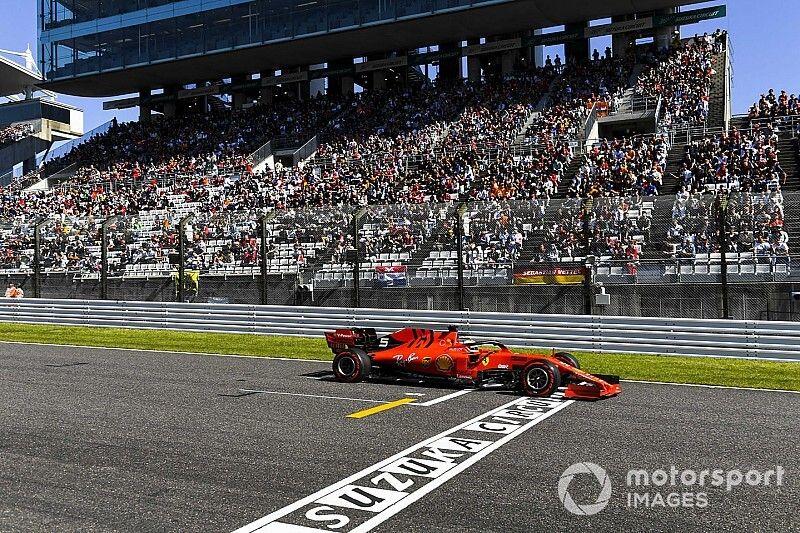 Parrilla de salida para el GP de Japón