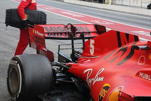 """Vettel """"kanalas"""" hátsó szárnnyal tesztelte a zandvoorti Pirelli-gumit"""