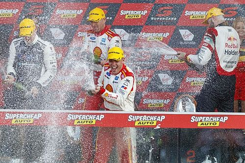 Bathurst celebration for Supercars medal winner