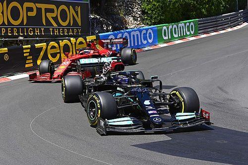 """Hamilton surpris par des Ferrari """"vraiment fortes"""" à Monaco"""