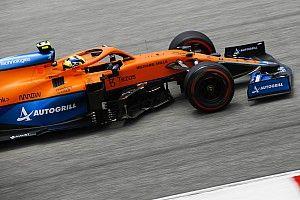 """Norris twijfelt over podiumkansen: """"Red Bull en Mercedes sneller"""""""