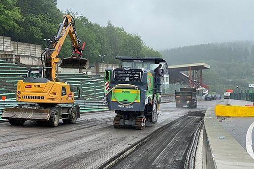 Schade aan circuit Spa-Francorchamps na overstromingen
