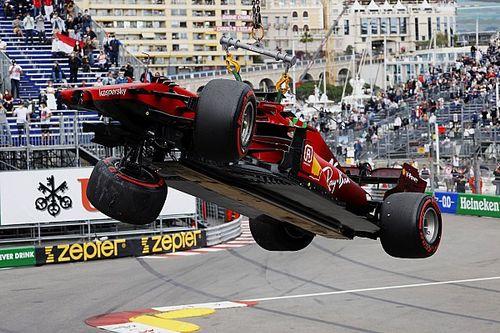 Ferrari no encuentra daños mayores en el coche de Leclerc