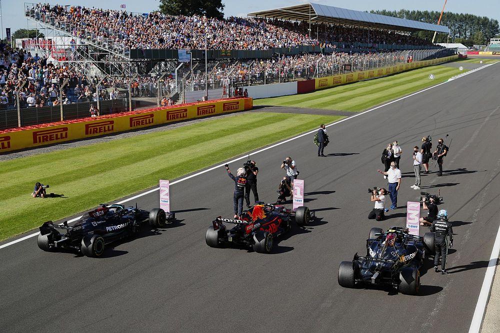 Parrilla de salida para el GP de Gran Bretaña F1