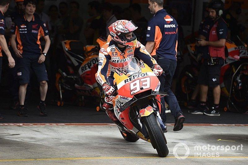 MotoGP Valencia FT1: Marc Marquez im Regen Schnellster vor Pramac-Duo