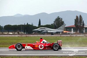 El día que Schumacher se batió contra un avión caza