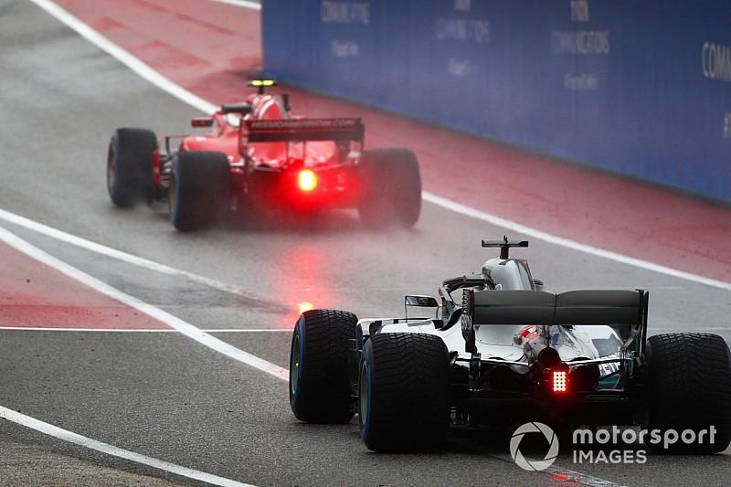 F1アメリカFP1:ハミルトン首位発進。フェラーリ不気味な周回数