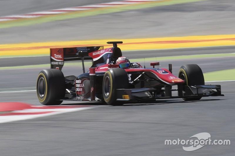 【F2】バルセロナレース1:松下信治4位入賞。ラスト2周で表彰台逃す