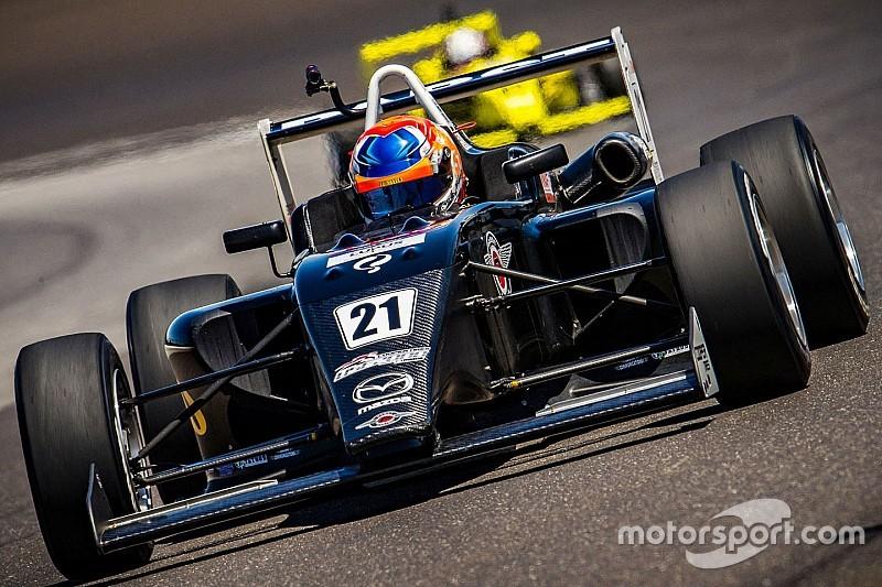 USF2000 Indianapolis: Van Kalmthout wederom op het podium