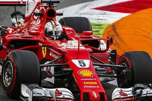 Ferrari: Vettel dedica il suo casco all'Italia con una striscia tricolore