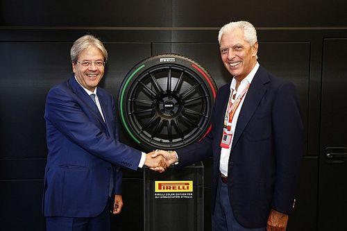 Per Gentiloni a Monza c'era il Pirelli P Zero Colored Edition tricolore