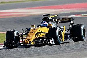 Penampakan mobil F1 2017 Renault dan Haas di Barcelona