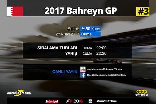 2017 Bahreyn GP Sanal Turnuva: Canlı Yayın