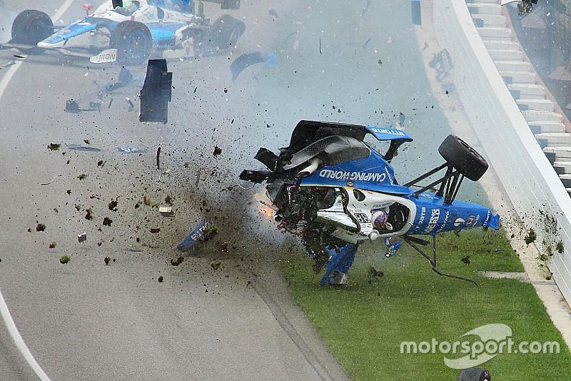 Video: De angstaanjagende crash van Dixon in de Indy 500 2017