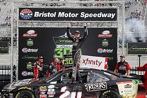 NASCAR XFINITY Race report Erik Jones moves Ryan Blaney and takes Xfinity win at Bristol