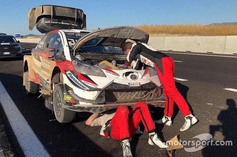 Latvala out of third place with mechanical problem