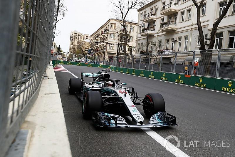F1アゼルバイジャン決勝速報:まさかの展開、ハミルトン今季初勝利