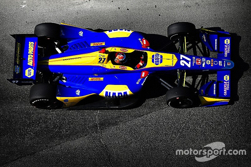 Gateway IndyCar: Rossi leads rain-interrupted first practice