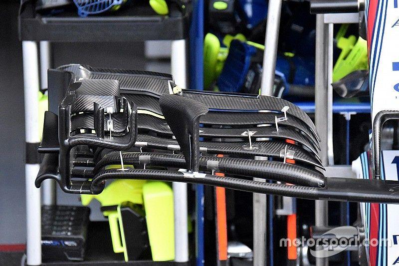Williams adota novo design de asa dianteira