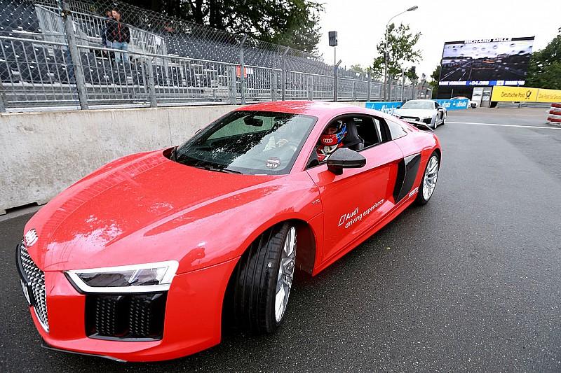 Einmal um den Norisring, bitte! Rasante Fahrt mit Le-Mans-Sieger Loic Duval
