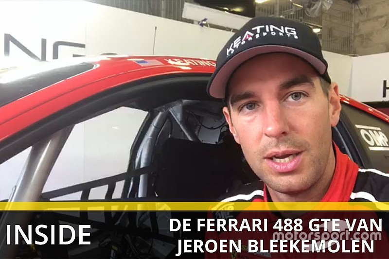 Uniek kijkje in de Ferrari-cockpit van Jeroen Bleekemolen