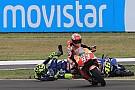 Galería del incidente entre Márquez y Rossi en Argentina