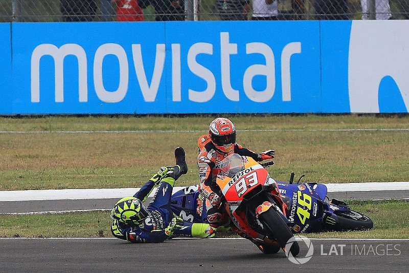 """Rossi now """"scared"""" to ride near Marquez - Yamaha"""