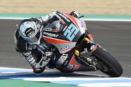 Moto2 Le Mans: Schrotter voor Marquez in eerste training, Bagnaia crasht