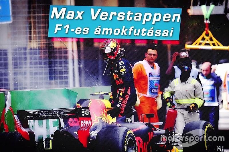 Max Verstappen ámokfutásai a Forma-1-ben