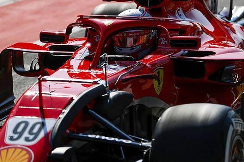 Test Hungaroring, Giorno 1, Ore 13: Giovinazzi porta in vetta la Ferrari con gomme Soft. Mercedes con un'ala nuova
