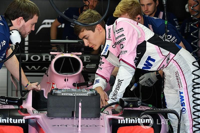 В Force India захотели сделать Расселла своим резервным пилотом
