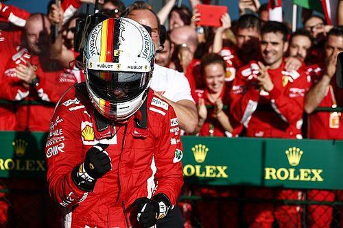 WK-stand Formule 1 2018: Vettel slaat eerste slag