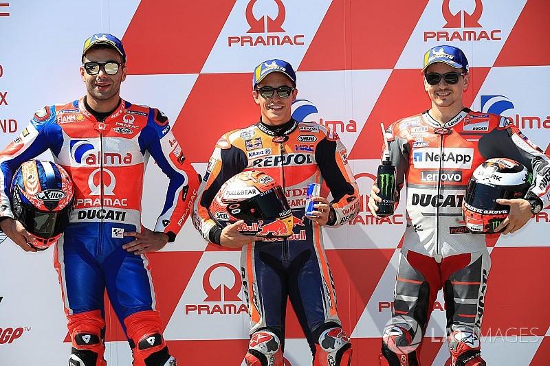 Sachsenring MotoGP: Marquez denies Petrucci pole by 0.025s