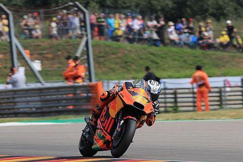 Sachsenring MotoGP: Espargaro leads red-flagged warm-up