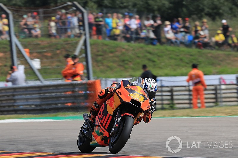 Sachsenring MotoGP: Espargaro leads red-flagged warm-up