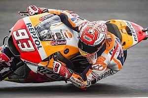 Márquez lideró con pista mojada en Termas y las Ducati deberán pasar por la Q1